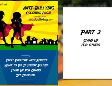 Anti-Bullying Coloring Page Section 3: Stand Up For Others