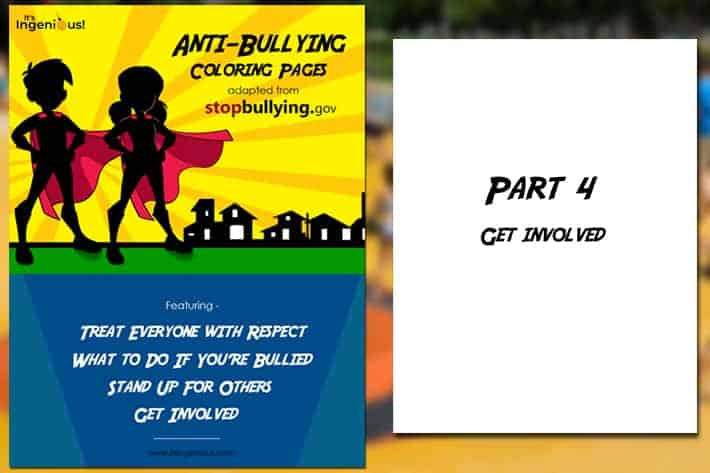Anti-Bullying Coloring Page Section 4: Get Involved