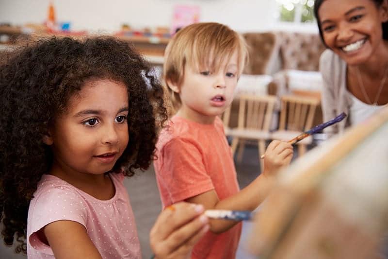 Learning in art class