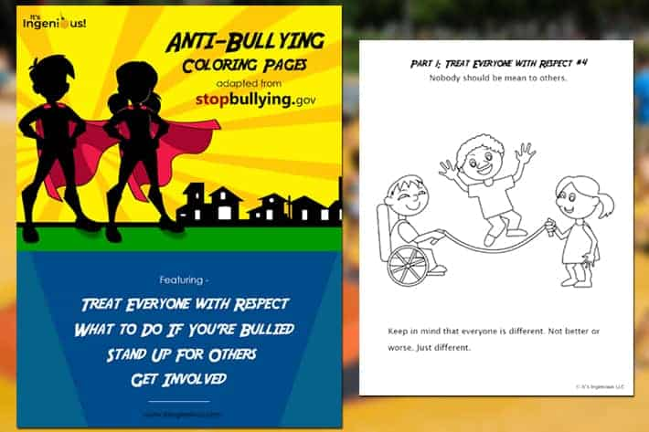 Anti-Bullying Coloring Pages